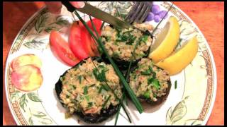 Stuffed Portobello Mushrooms With Creole Crab And Shrimp Appetizer Recipe