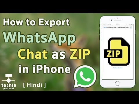 How To Export WhatsApp Chat As Zip File On IPhone IOS 11. HINDI