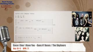 🎙 Since I Don´t Have You - Guns N' Roses / The Skyliners Vocal Backing Track With Chords And Lyrics