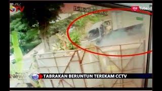 NGERI! Rekaman CCTV Tabrakan Beruntun 7 Mobil di Bandung - BIM 15/10