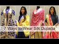 7 Different Silk Dupatta Styles to Wear with Lehenga & Salwar Suit