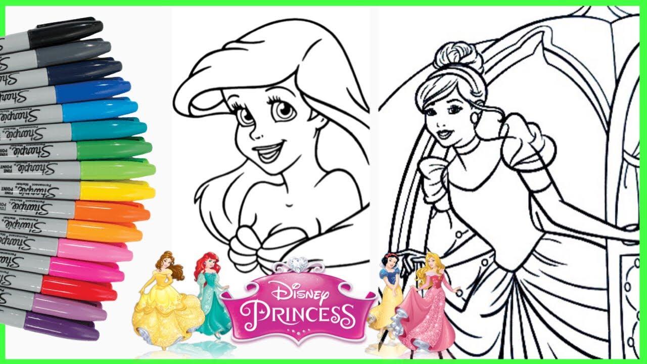 Mewarnai Putri Duyung Ariel Dan Cinderella