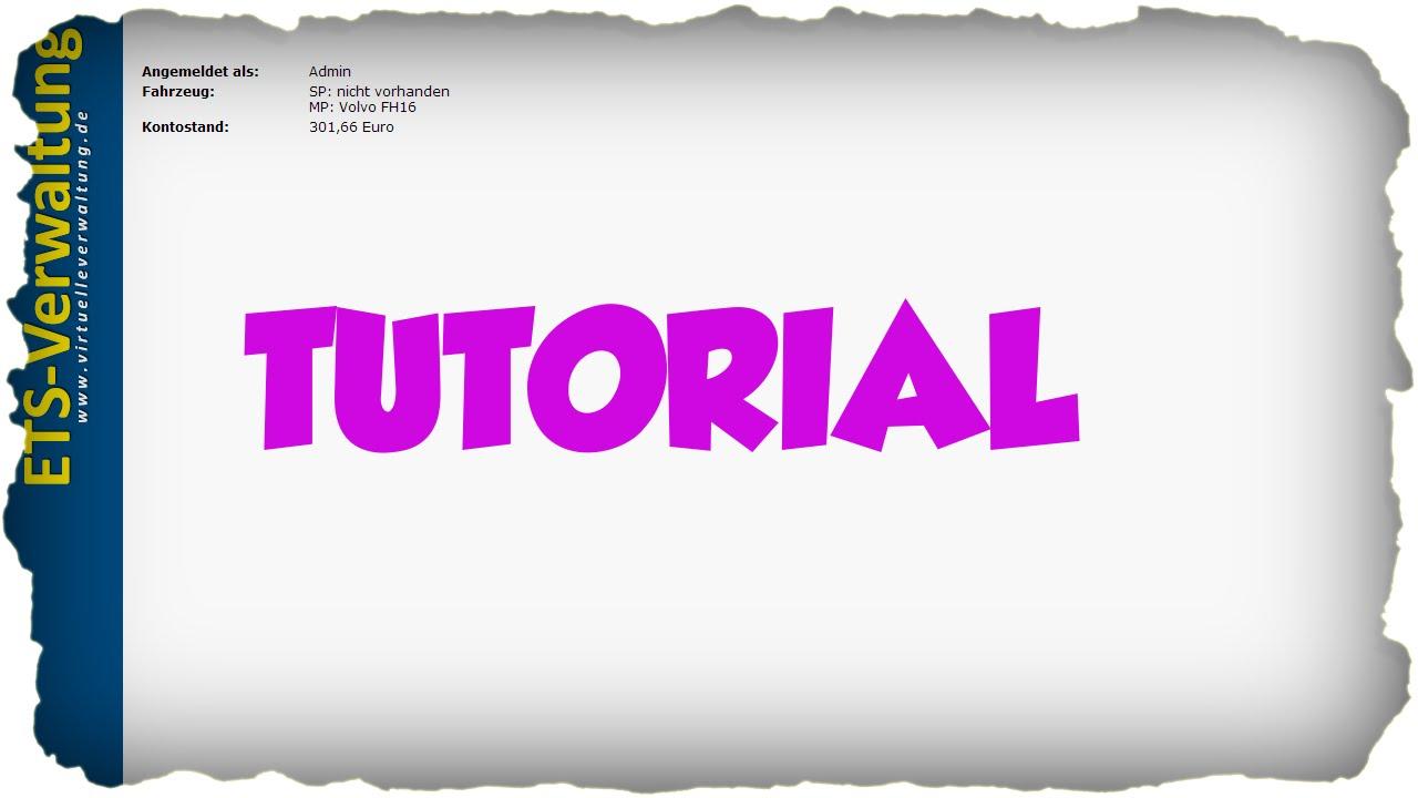 tutorial wie mache ich eine virtuelle spedition f r ets2. Black Bedroom Furniture Sets. Home Design Ideas