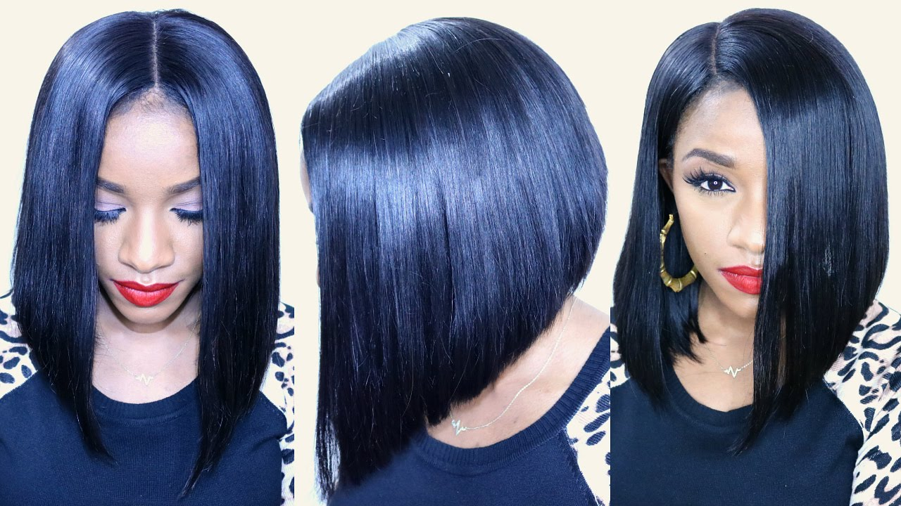 How To Cut A Flawless Bob Ft Bestlacewigs Hair Extensions Youtube