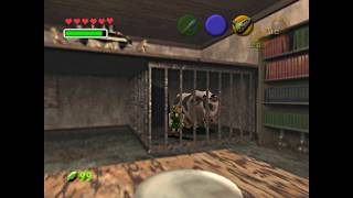 Piece of Heart from cow behind bars - Zelda:  Ocarina of Time