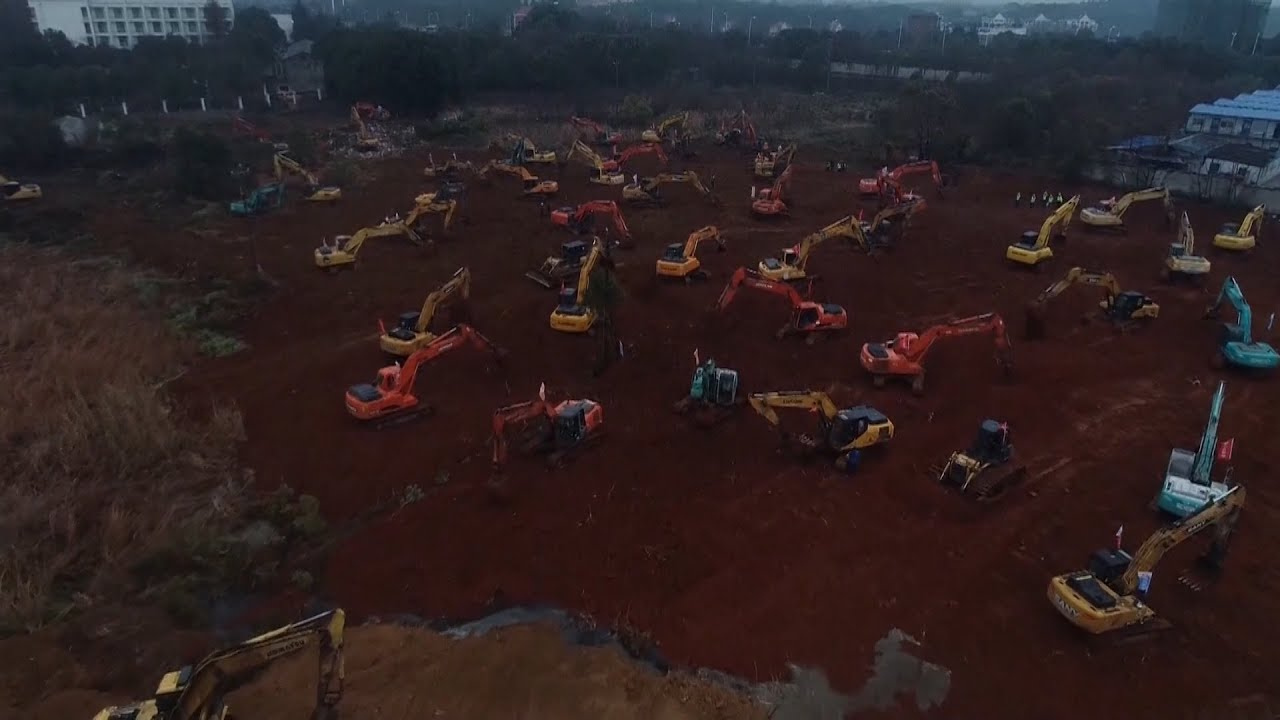 China hastily builds new 1000-bed hospital in Wuhan to tackle ...