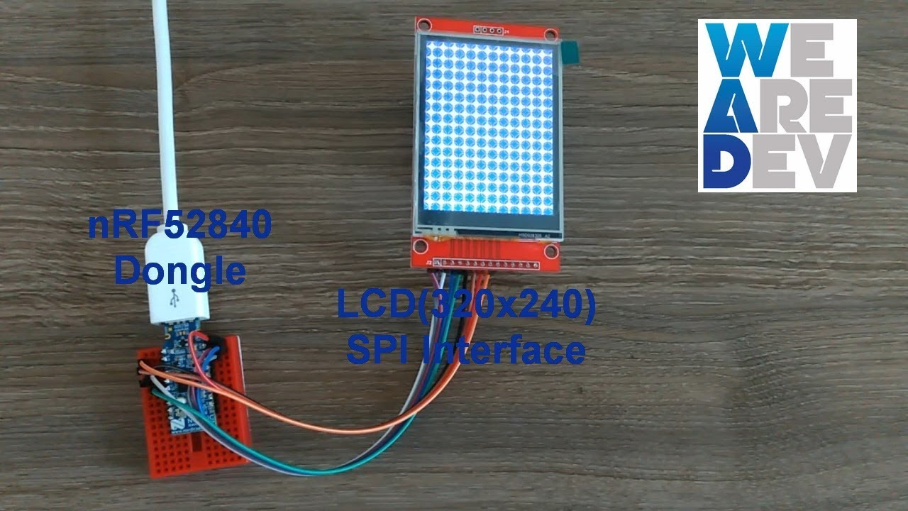 2 8 inch Color LCD(SPI) example using nRF52840 Dongle (BLE 5 0)