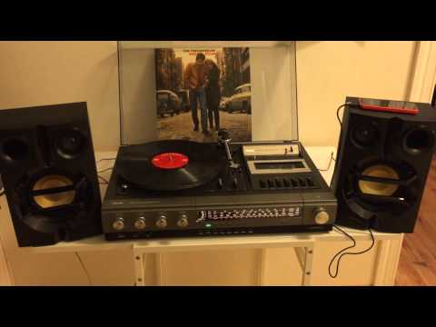80s music played on an 80s stereo