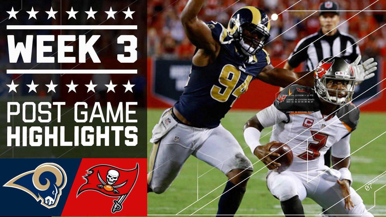 rams vs buccaneers nfl week 3 game highlights youtube rams vs buccaneers nfl week 3 game highlights