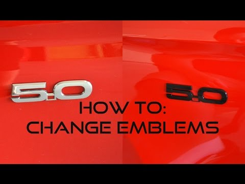 How To: Change Mustang Emblems
