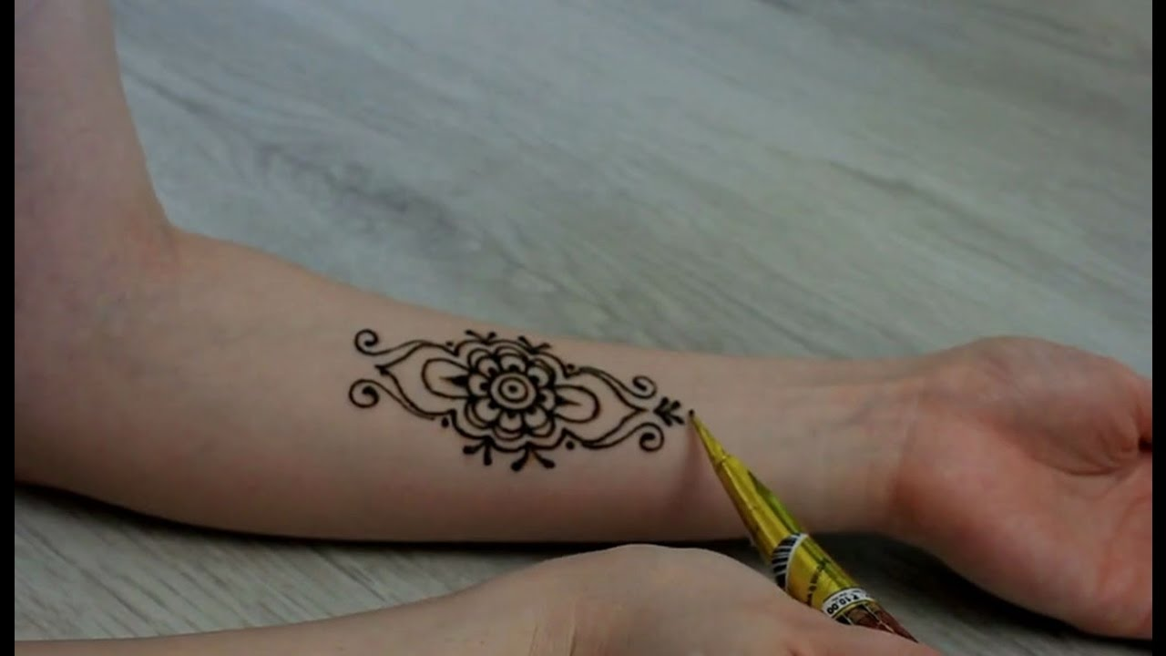 henna tattoo for arm youtube. Black Bedroom Furniture Sets. Home Design Ideas