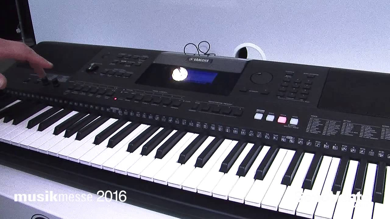 musikmesse 2016 yamaha psr e453 psr ew400 en youtube. Black Bedroom Furniture Sets. Home Design Ideas
