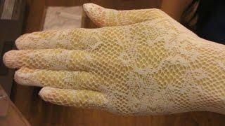 КРАСИВЫЕ сексуальные перчатки свадебные белые посылка покупка с китая aliexpress