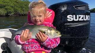 Aria's FIRST fish!!! Bluefish {Catch Clean Cook} It was AMAZING!!!!