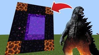 How To Make a Portal to the Godzilla Dimension in MCPE (Minecraft PE)