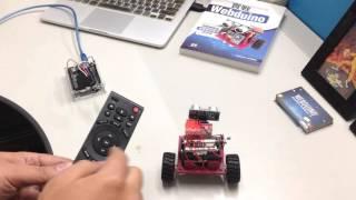 Webduino - 使用電視機遙控器,遙控自走車 ( Wi-Fi 紅外線 )