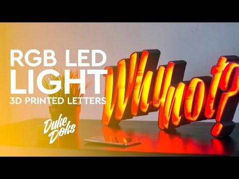 3D Printed LED Marquee Letters / Anet A6 / Letras LED impresas en 3D