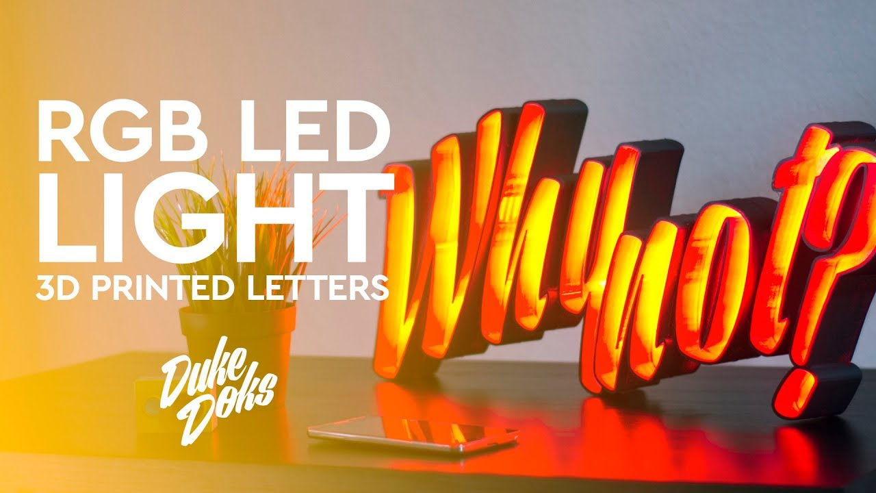 3d printed letters 3d printed led marquee letters anet a6 letras led 20096 | maxresdefault