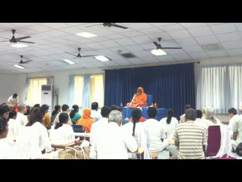 Reciting Mantras with Swami Dayananda in Coimbature
