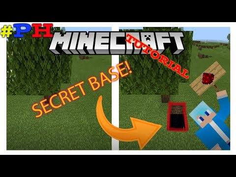How To Make Hidden Base In Minecraft Pocket Edition (Redstone Tutorial)