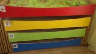видео трехъярусная кровать