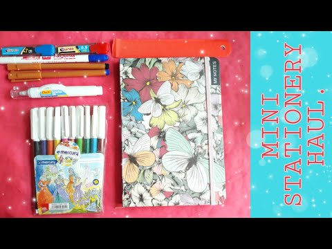 Mini Stationery Haul | Back to School | Revise with Blue.