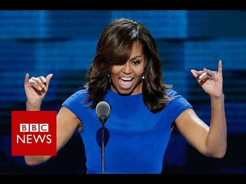 5 times Michelle Obama referred to Donald Trump - BBC News