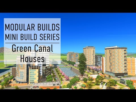 Canal Residential Estate - Cities Skylines Modular Builds - No Mods (Mini Build Guides)