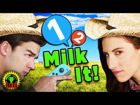 MILK ME DAMMIT! | 1 2 Switch Gameplay