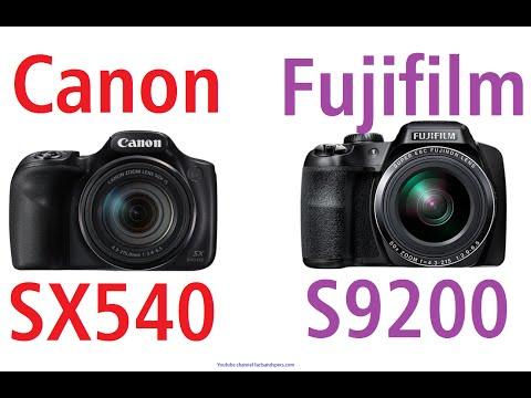 Canon PowerShot SX540 HS vs Fujifilm FinePix S9200 - YouTube