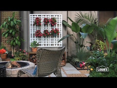 How to Make a Lattice-Look Planter