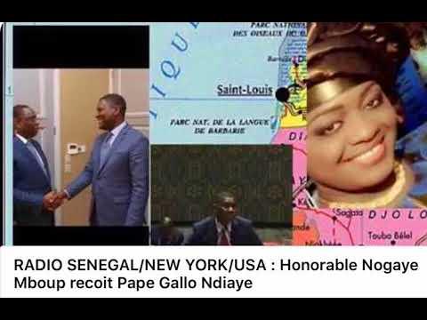 RADIO SENEGAL NEW YORK/ USADE SOKHNA NOGAYE MBOUP  RECOIT Mr. PAPA GALLO NDIAYE DE L'A.P.R.  USA