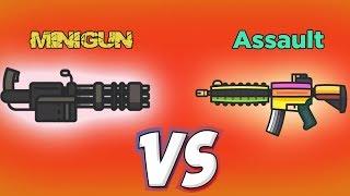 MiniGun vs Assault SUPERPOWER 💪- Fortnite .io - Zombsroyale.io 🏆