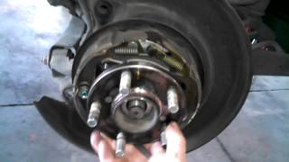 Rear wheel bearing hub assembly replacement 2009 Subaru Outback Legacy Install Remove Replace How to