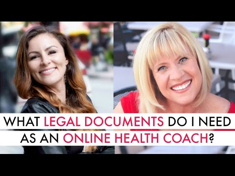 What legal documents do I need as an online health coach?