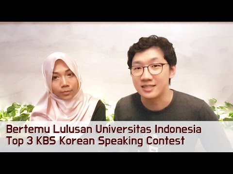 Bertemu Lulusan Universitas Indonesia Top 3 KBS Korean Speaking Contest!