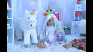 Baby Doll Bedroom with Unicorns & Rainbows!