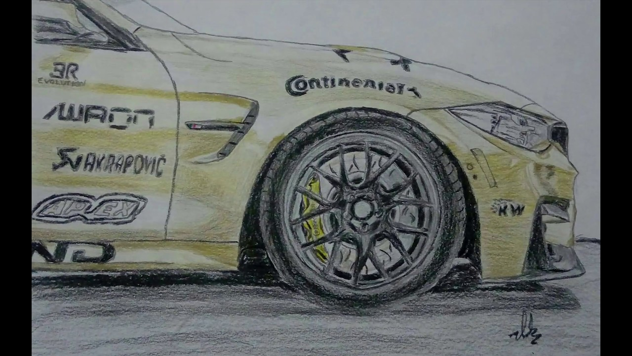 Bmw M4 Drawing Step By Step