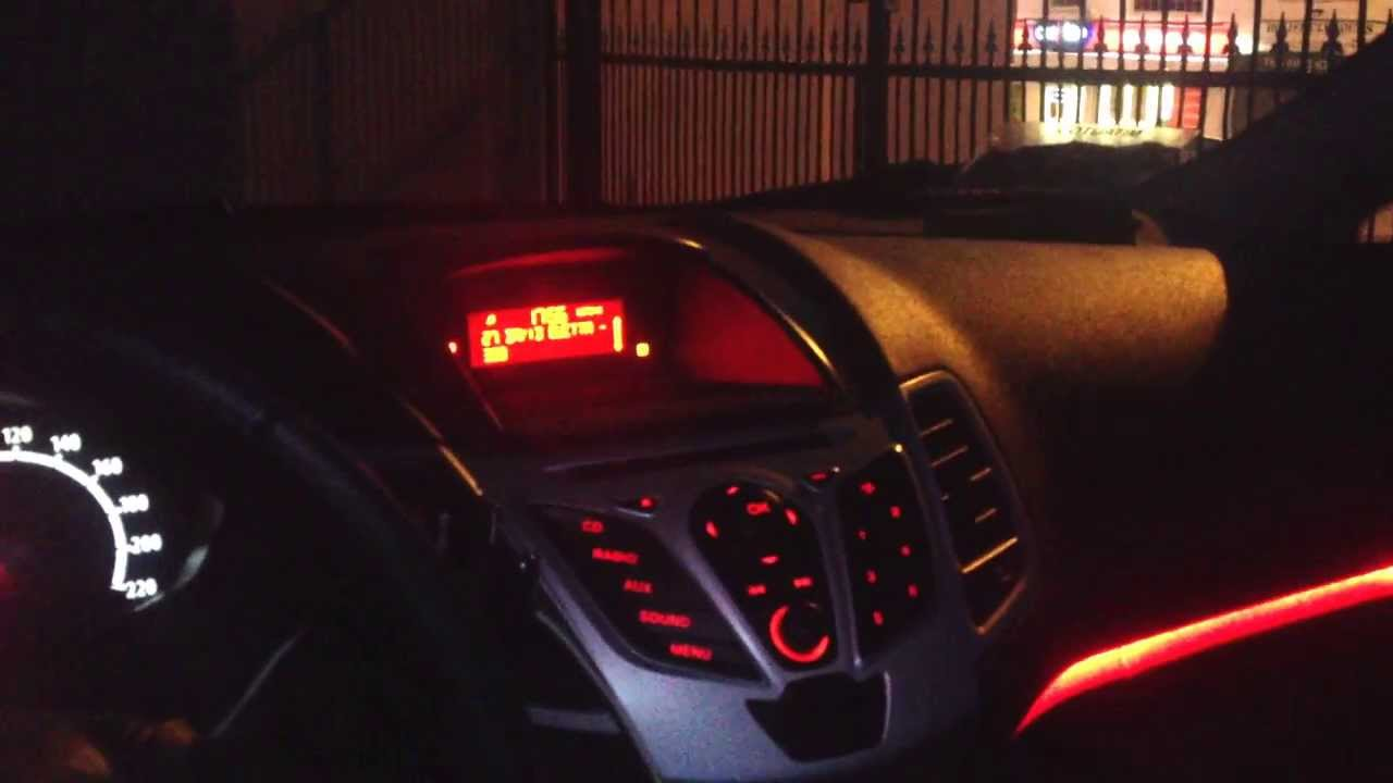 Ford fiesta 2012 light update youtube for Interieur verlichting auto