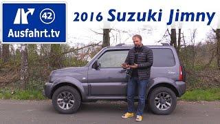 2016 Suzuki Jimny Ranger - Fahrbericht der Probefahrt, Test, Review(English version: http://youtu.be/x1x1x1x1x1 04:10 Fakten, Fakten, Fakten 05:51 Exterieur 08:46 Interieur 16:33 Innenraumcheck 18:19 Auf der Rücksitzbank ..., 2016-06-02T17:00:01.000Z)