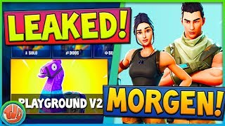 * LEAKED * TOMORROW COMES * PLAYGROUND * BACK, NEW DEFAULT SKINS & MUCH MORE!! -Fortnite: BR