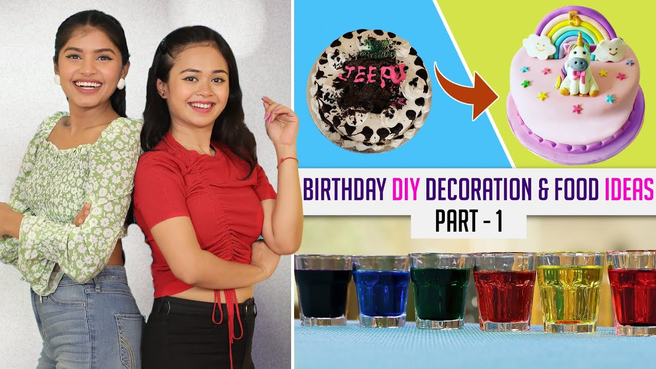Birthday DIY Decoration Cake and Food Ideas | Unicorn & Rainbow theme | DIY Queen