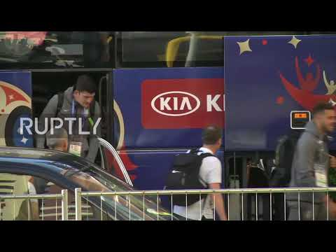 Russia: England's Kane and co. arrive in Samara for Sweden QF