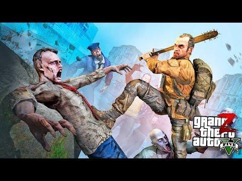 GTA 5 Ходячие Мертвецы - НАЧАЛО ЗОМБИ АПОКАЛИПСИСА В ГТА 5 МОДЫ #1! РЕАЛЬНАЯ ЖИЗНЬ ОБЗОР МОДА GTA 5