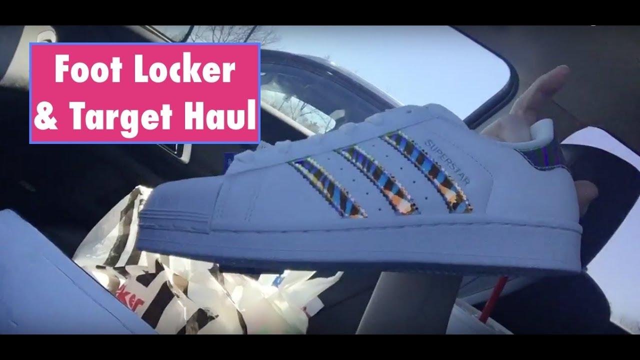 ASMR Target and Foot Locker Haul. Adidas Superstars Holographic.