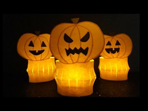 Halloween Craft | Paper Pumpkin Jack O Lantern