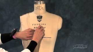 How to Drape a Sheath Dress - A Fashion Design Lesson Video Preview