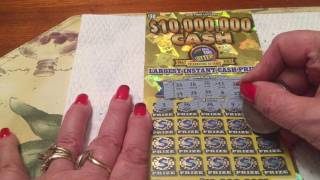 $30 - $10,000,000 Biggest Jackpot Ever Lottery Scratch Off instant win tickets  - Episode 34