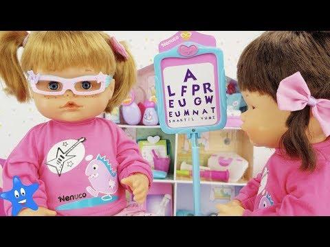 Ani Nenuco va al oculista ¿NECESITA GAFAS? Consulta médica Nenuco Muñecas bebé y juguetes