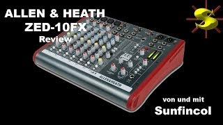 Gambar cover Allen & Heath ZED-10FX Mixer Review ZED-10FX deutsch